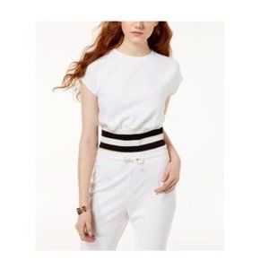 NWT Material Girl Sporty Tee White